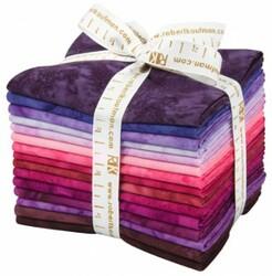 Artisan Batiks: Prisma Dyes, Plum Perfect Colorstory Fat Quarter Bundle