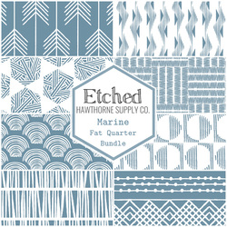 Etched Fat Quarter Bundle in Marine