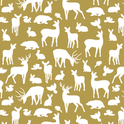 Forest Friends in Gold