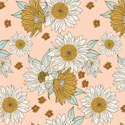 Boho Sunflowers in Vintage Blush