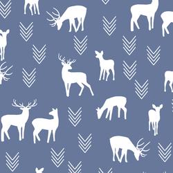 Deer Silhouette in Azurite
