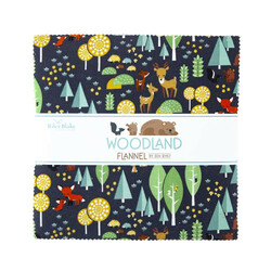 """Woodland Flannel 10"""" Square Pack"""