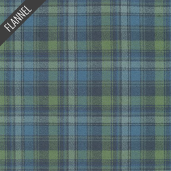 Mammoth Organic Optical Plaid Flannel in Pacific