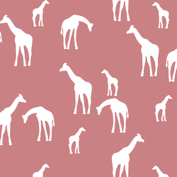 Giraffe Silhouette in Berry