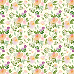 Little Garden Blooms in Light Ivory