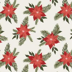 Poinsettia in Christmas Red
