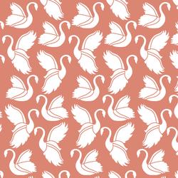 Swan Silhouette in Desert Rose