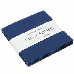Bella Solids Charm Pack in Nautical Blue