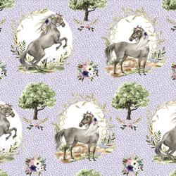 Royal Horses in Dappled Lilac