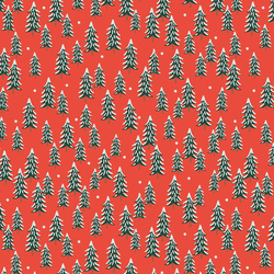 Fir Trees in Red