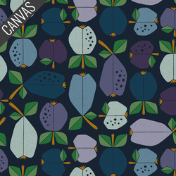 Orchard Canvas in Deep Blue