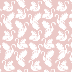 Swan Silhouette in Blush