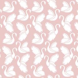 Swan Silhouette in Blush