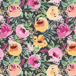 Berry Floral in Onyx