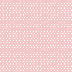 Winter Dot in White on Sweet Pink