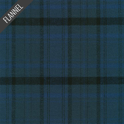 Mammoth Organic Cool Plaid Flannel in Navy