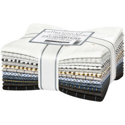 Collection CF Fat Quarter Bundle in Neutral Greys and Grids
