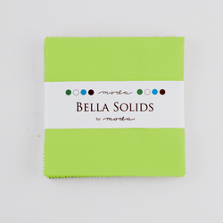 Bella Solids Charm Pack in Lime