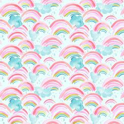 Rainbow Showers in Aqua Sky